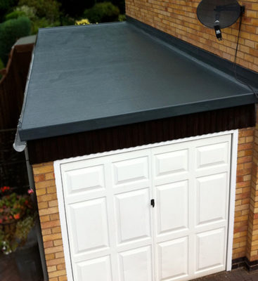 GRP Roofing on Garage
