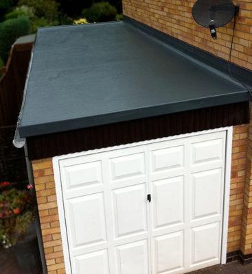 GRP Roofing on Garage