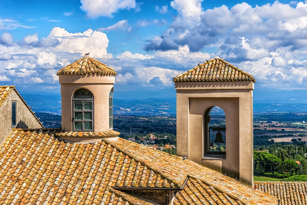 Beautiful Tile Roofing in Italy