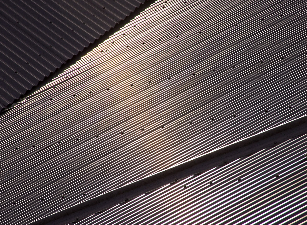 Steel Roofing With Rivets